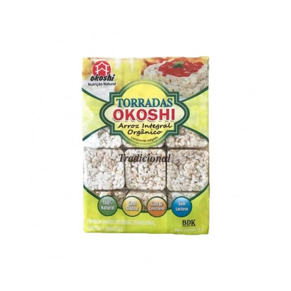 Biscoito de Arroz Integral sabor tradicional Okoshi 50gr