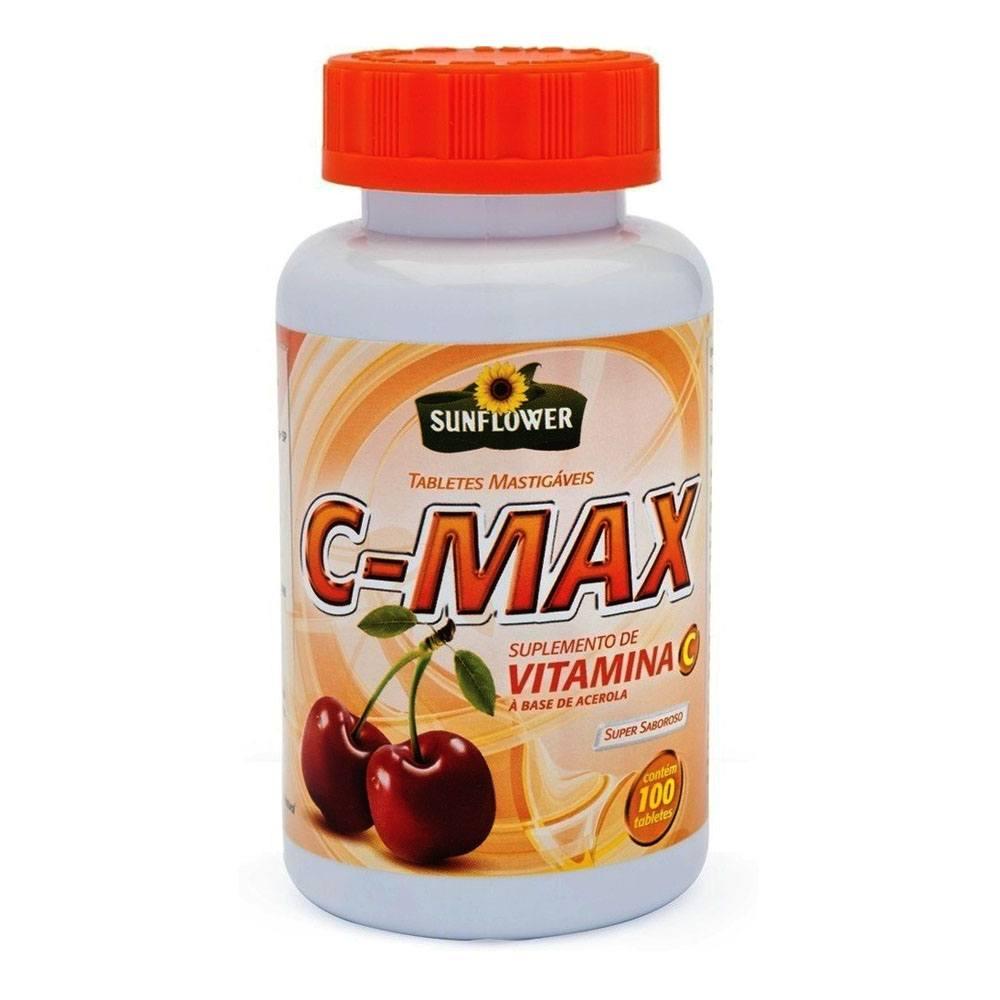 C Max Vitamina C 100% IDR 100 cápsulas Sunflower