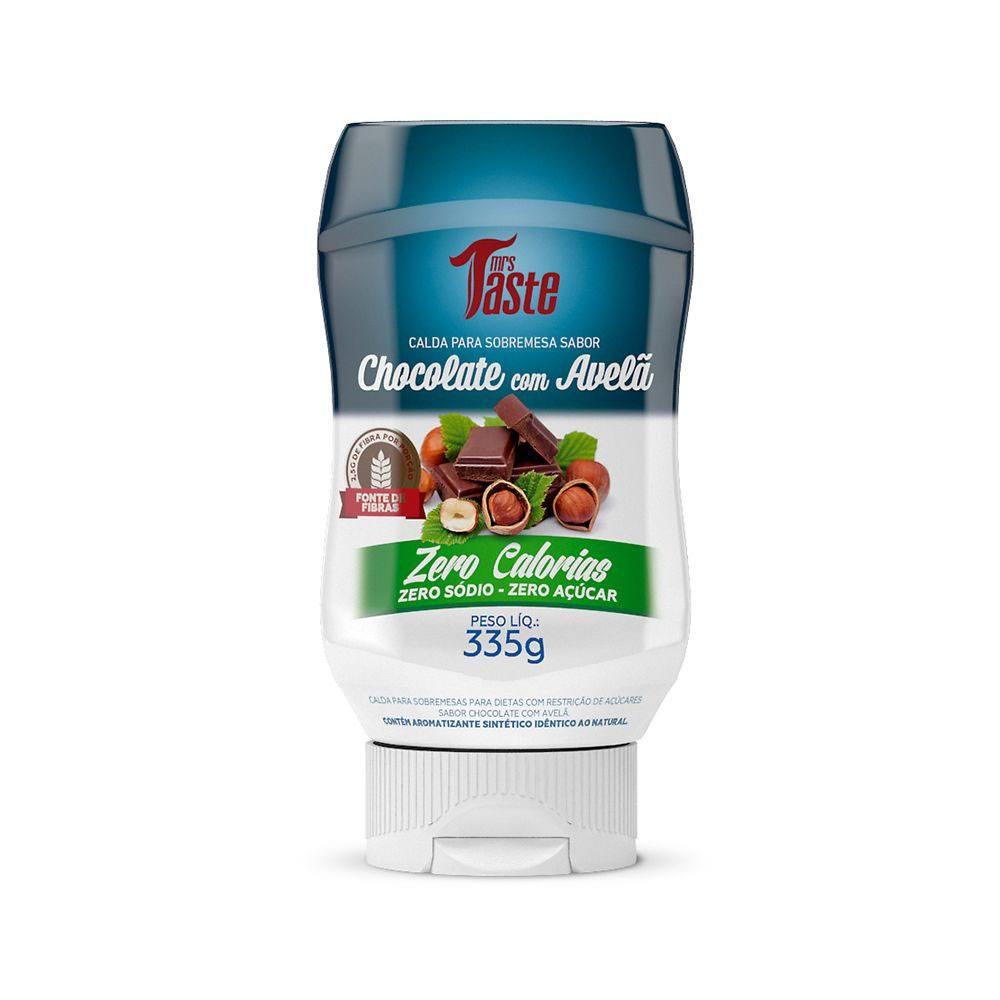 Calda de Chocolate com Avelã Zero Açúcar Mrs Taste 335gr