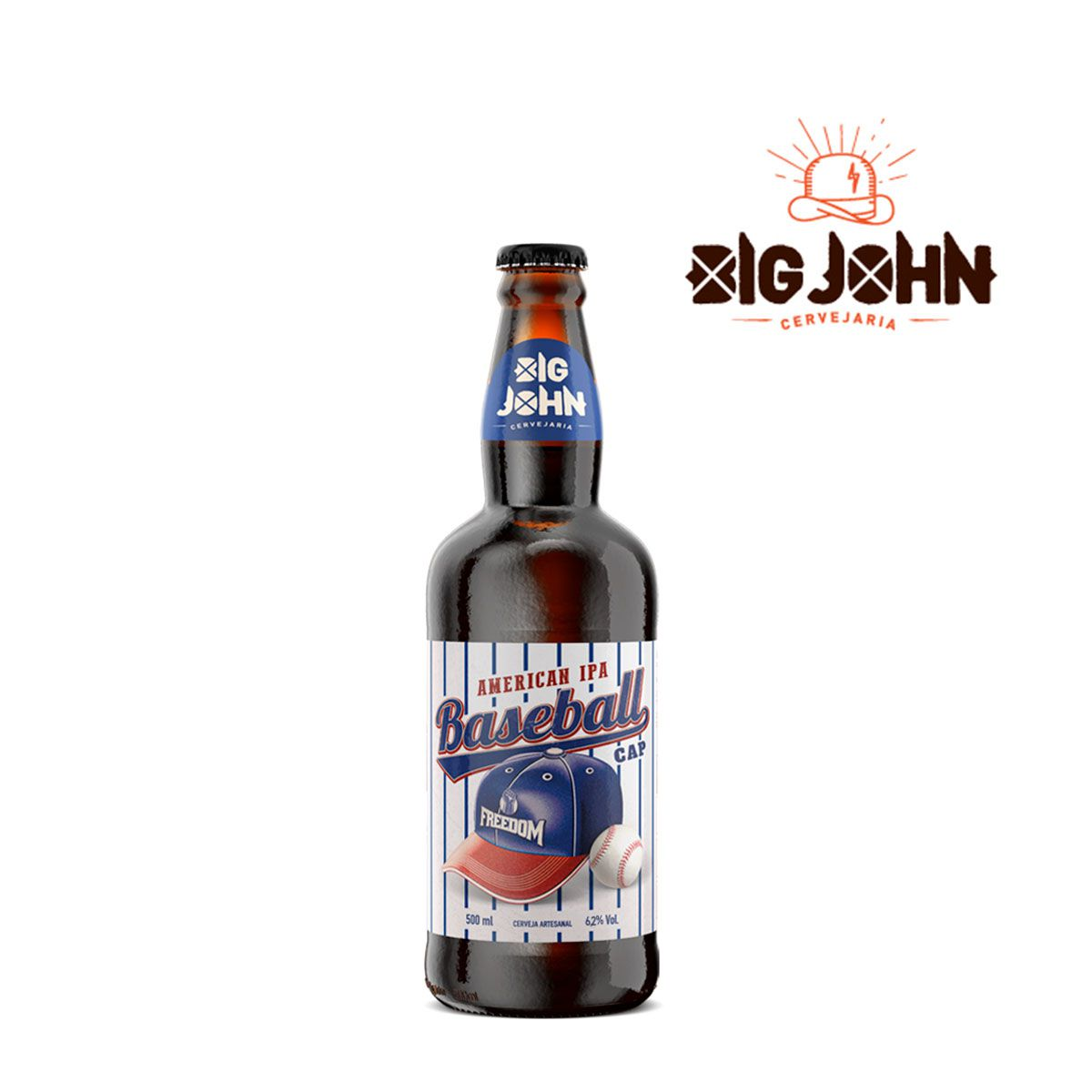 Cerveja Artesanal Big John Baseball Cap American IPA 500ml