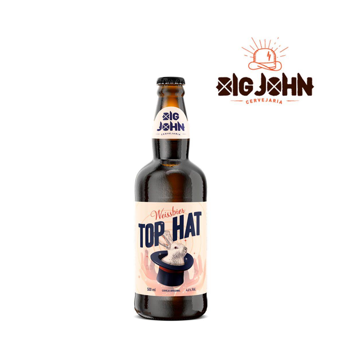 Cerveja Artesanal Big John Top Hat Weissbier 500ml