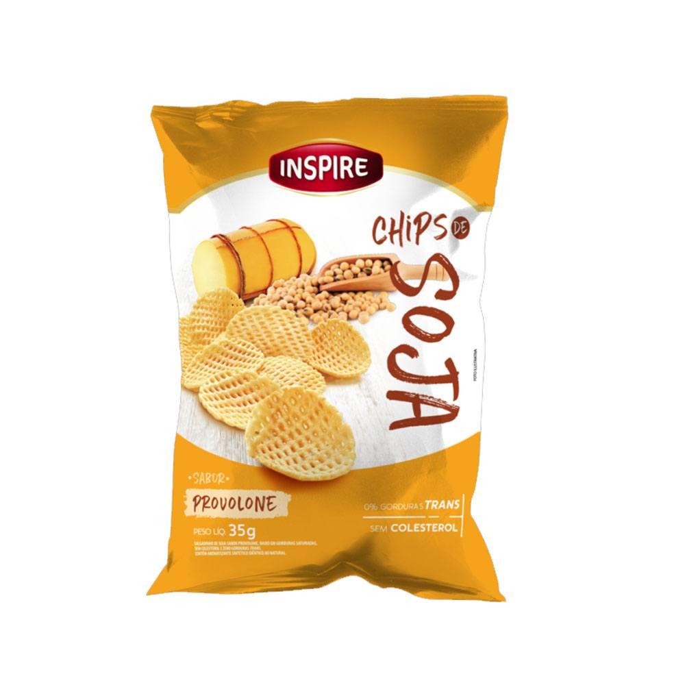 Chips de Soja sabor Queijo Provolone 35gr Inspire