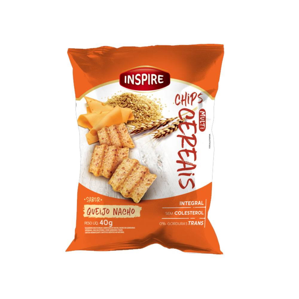 Chips Multicereais sabor Queijo Nacho 40gr Inspire