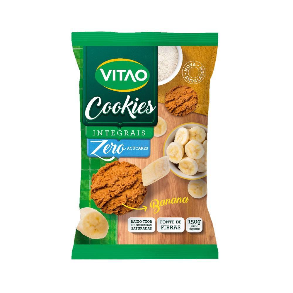 Cookies Integral Zero Açúcar sabor Banana 150gr Vitao