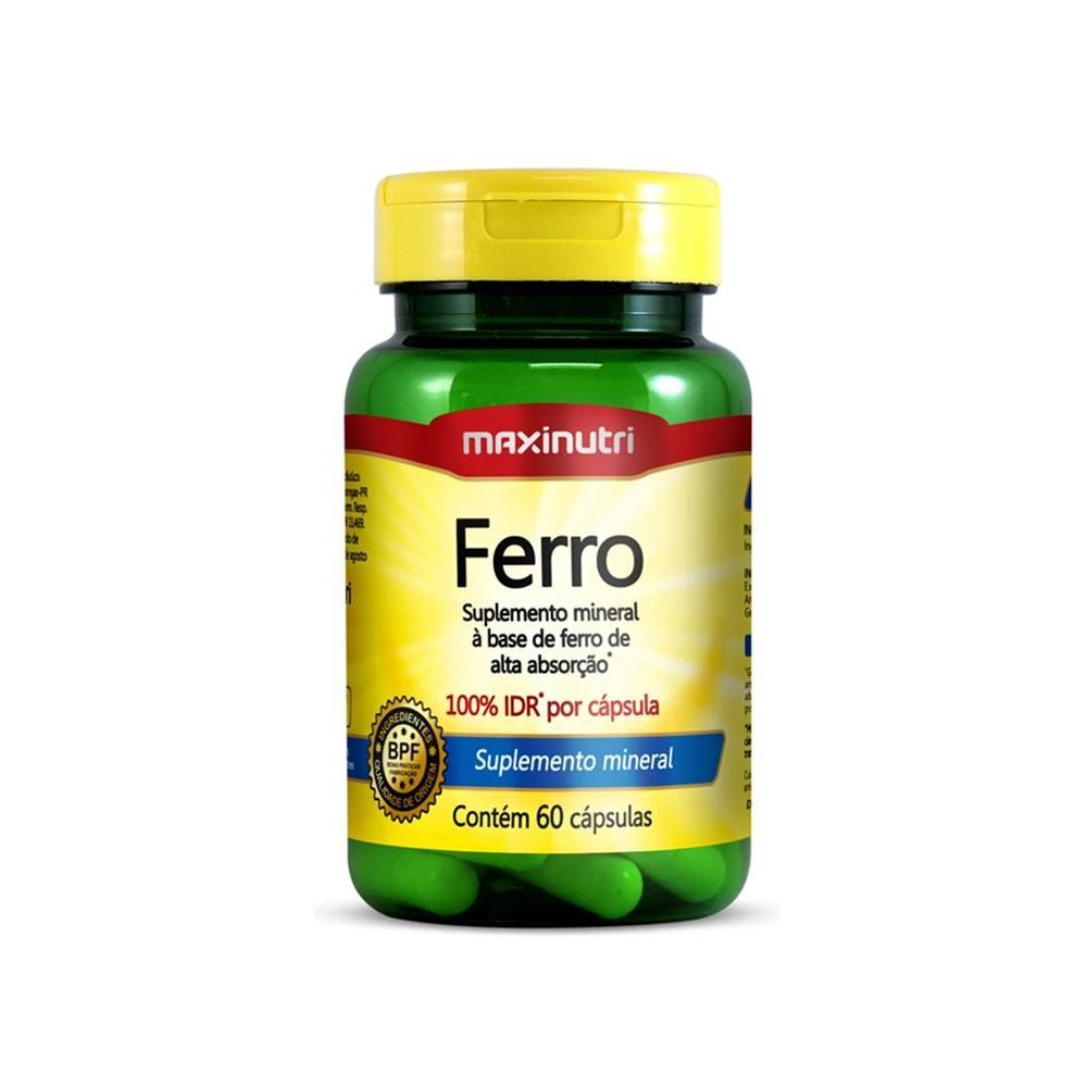 Ferro 100% IDR 60 cápsulas Maxinutri