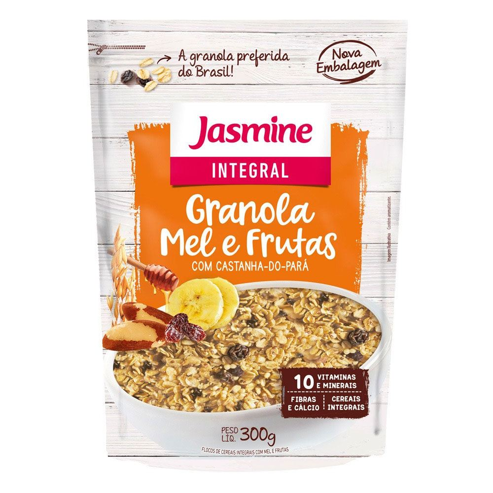 Granola Mel e Frutas Jasmine 300gr