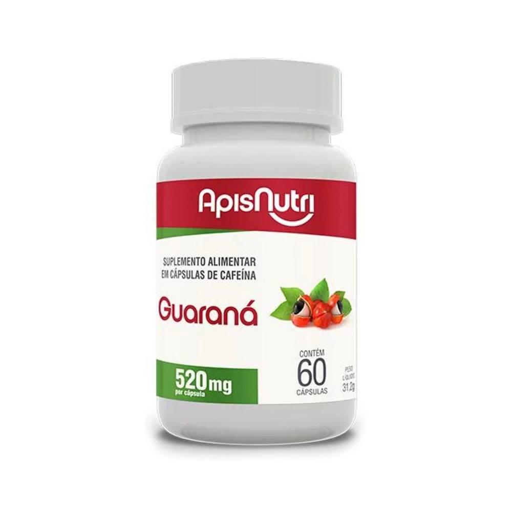 Guaraná 520mg 60 cápsulas - Apisnutri
