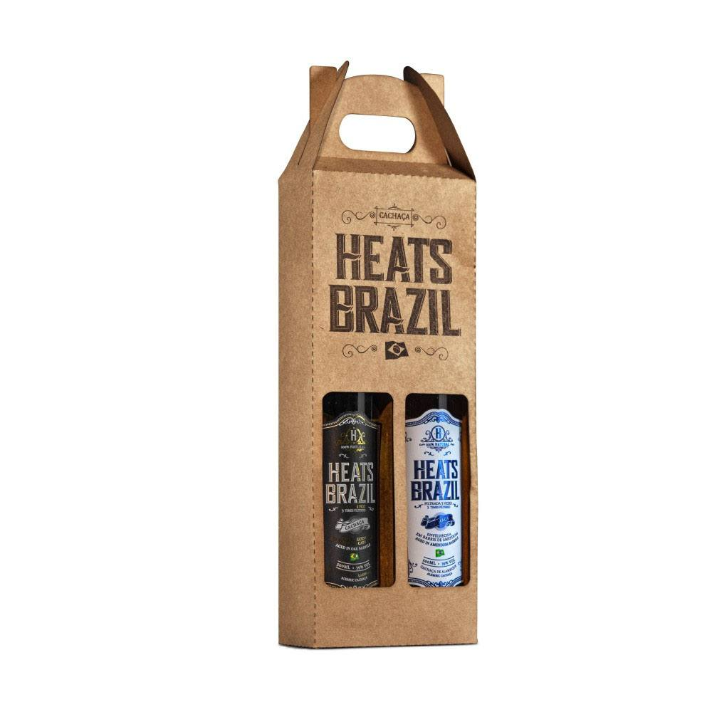 Kit para Presente HEATS BRAZIL com duas garrafas de 500ml