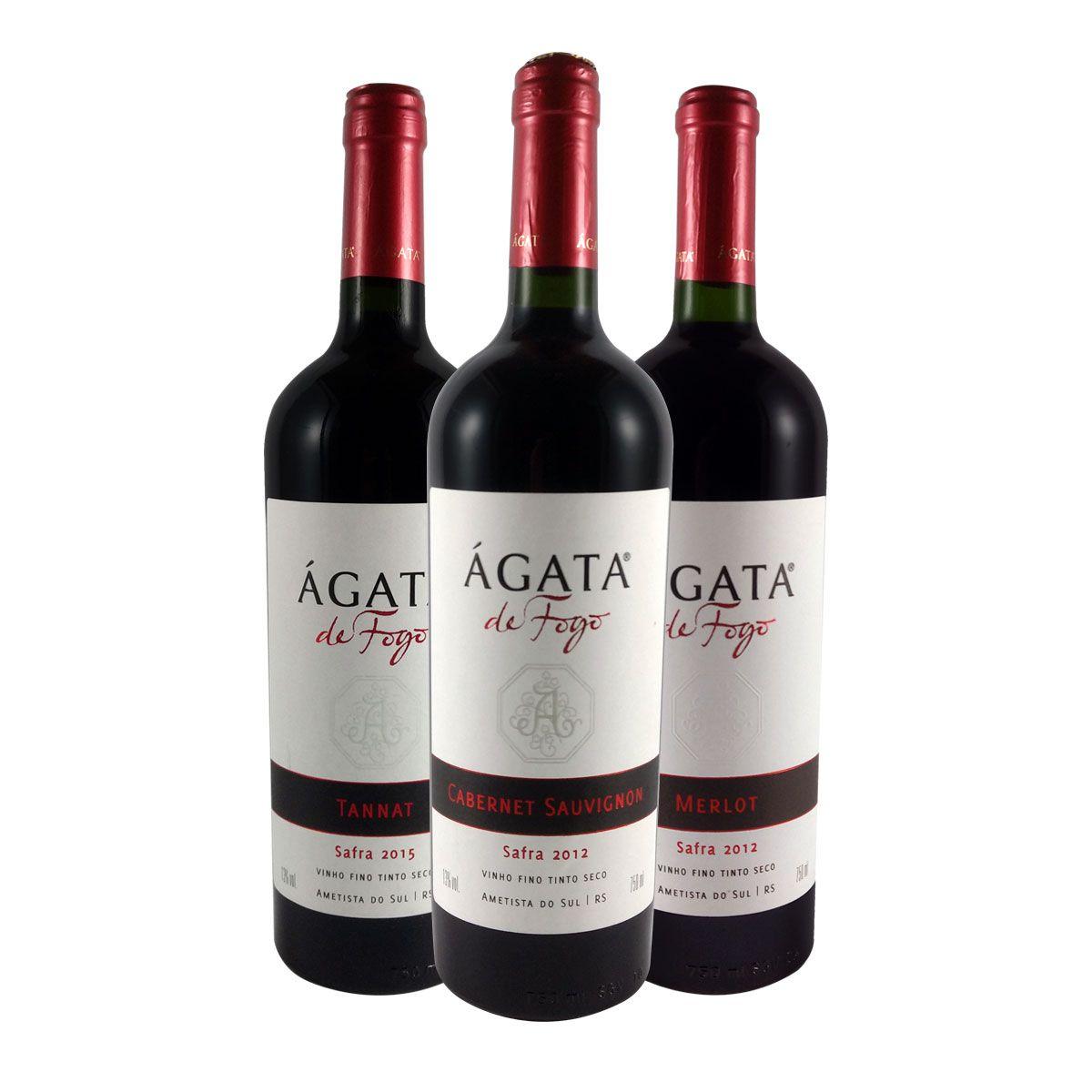 Kit de Vinhos Tintos Ágata de Fogo