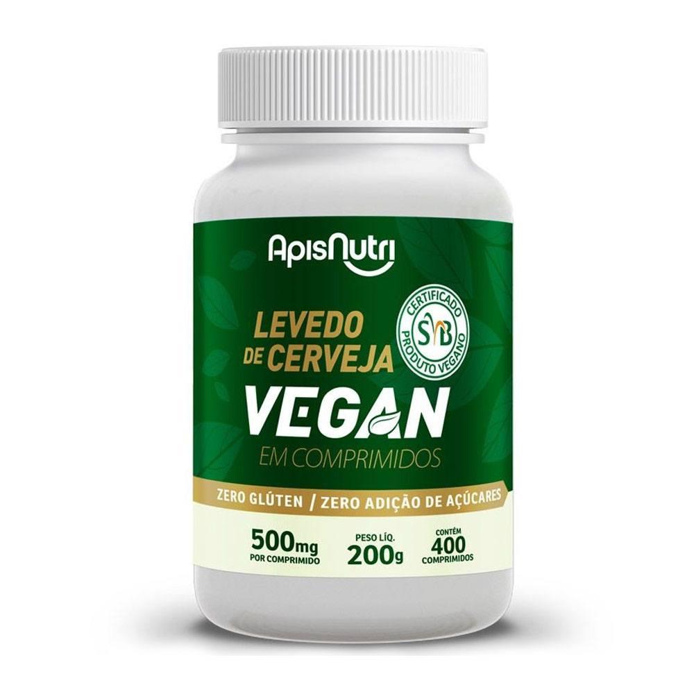 Levedo de Cerveja Vegano 500mg 400 Comprimidos AspiNutri