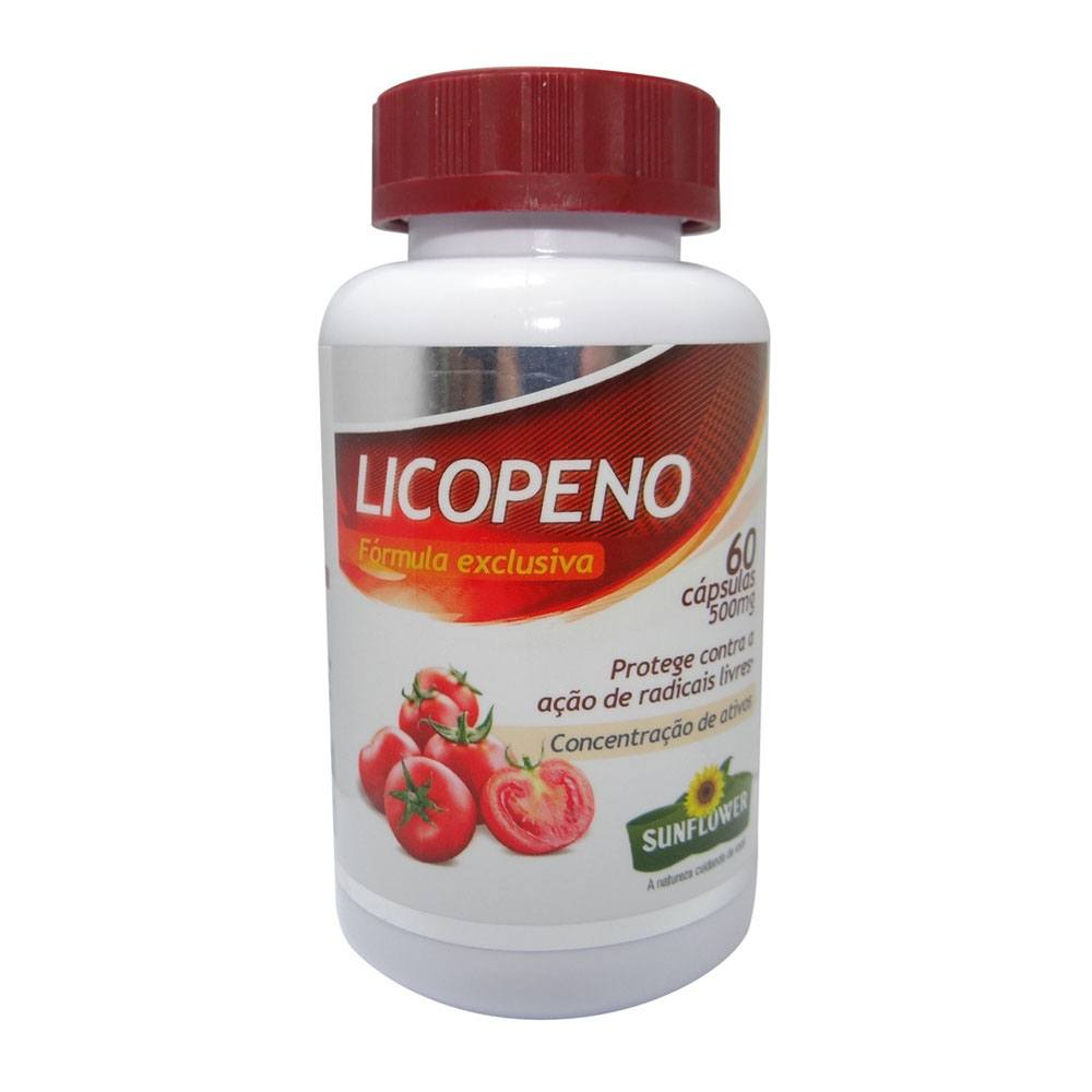 Licopeno 500mg 60 cápsulas Sunflower