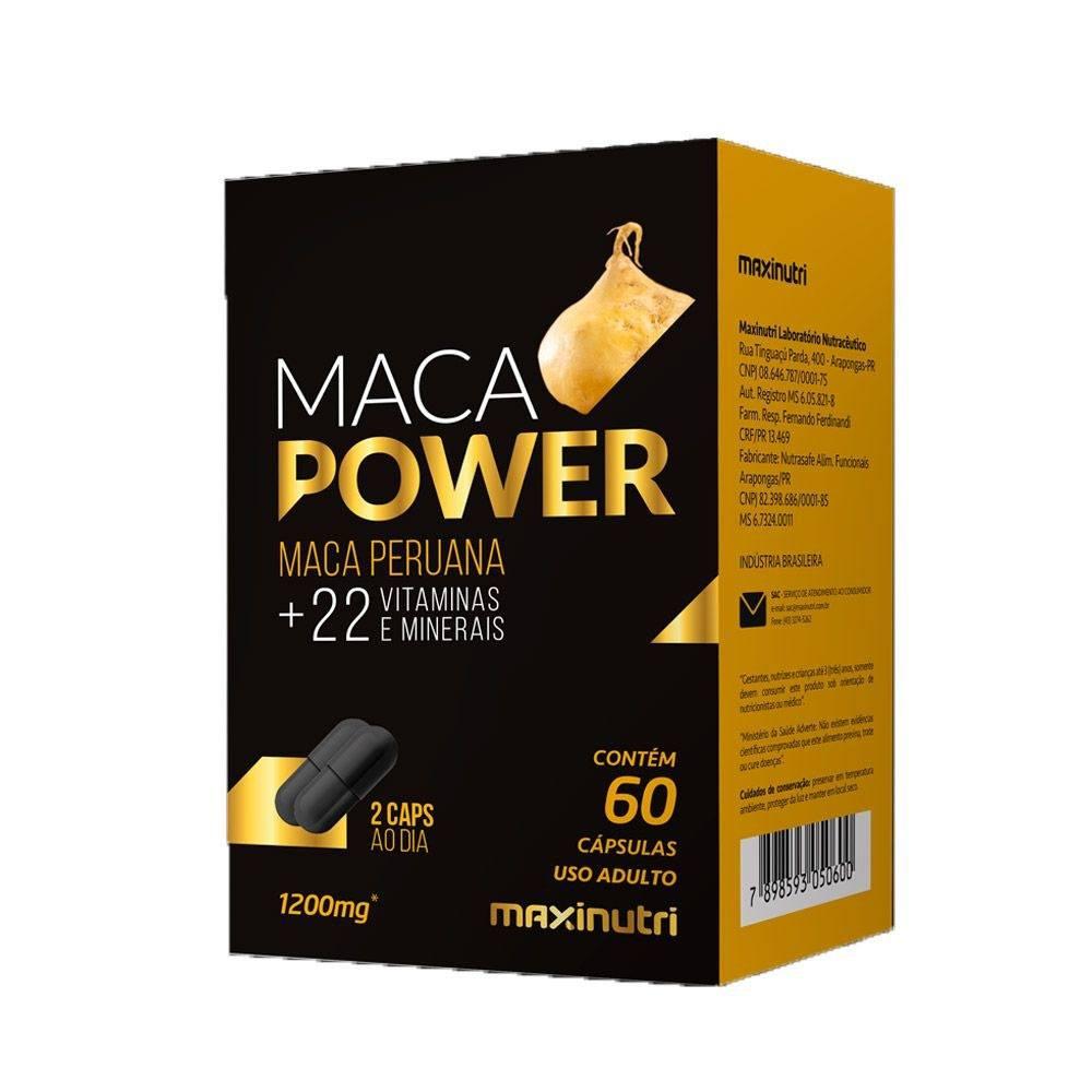 Maca Peruana Power Vitaminas e Minerais 1200mg 60 Cápsulas Maxinutri