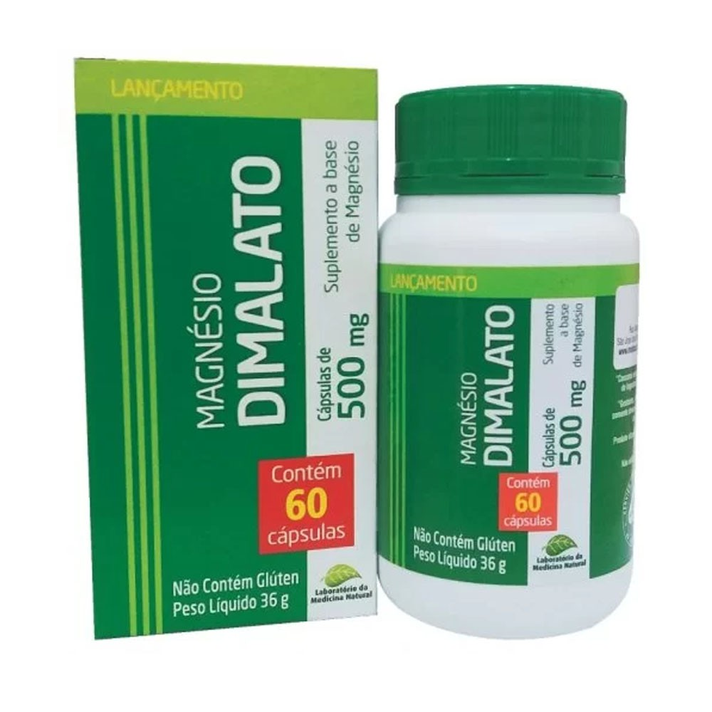Magnésio Dimalato 500mg 60 cápsulas Medinal