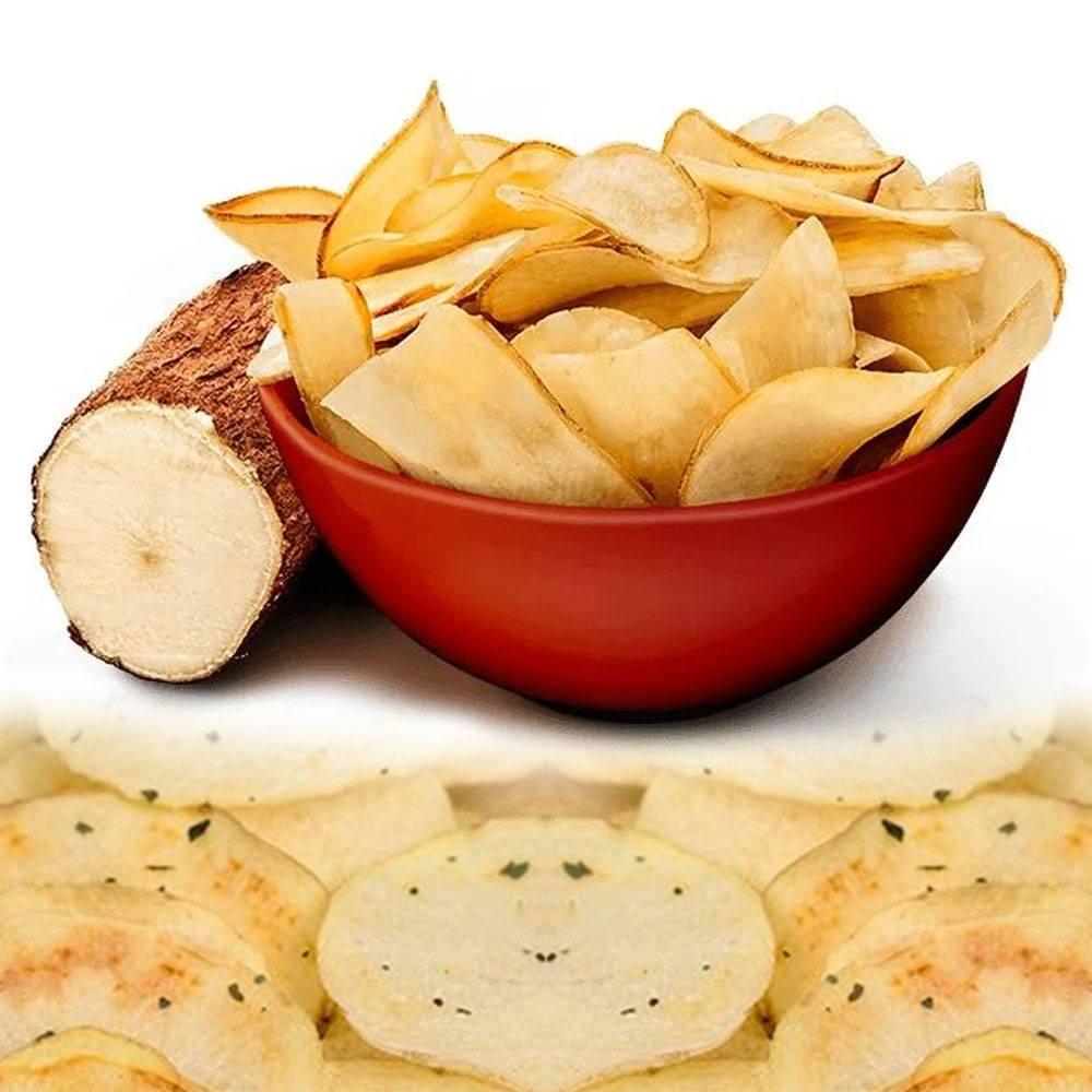 Mandioca (Aipim) Chips Cebola e Salsa