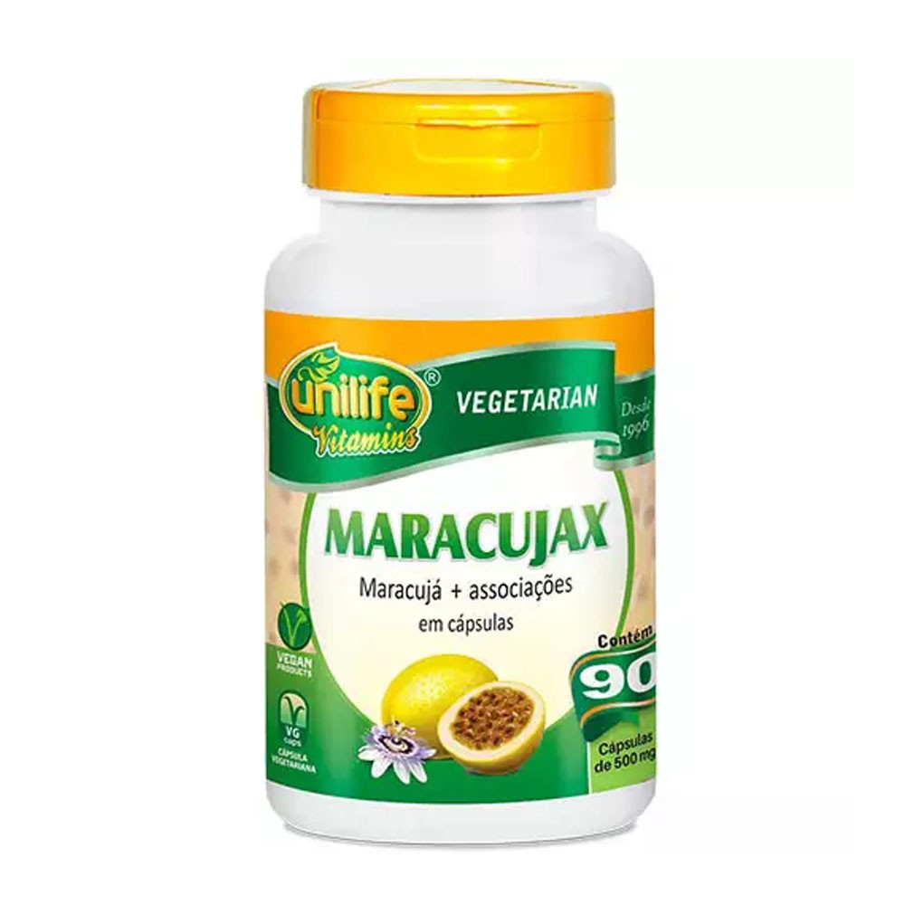 Maracujax 500mg 90 cápsulas Unilife