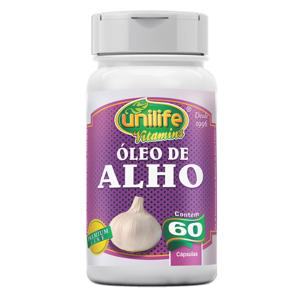 Óleo de Alho 350mg 60 cápsulas Unilife