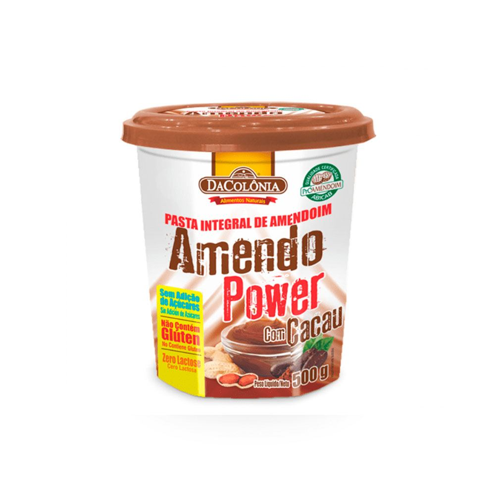 Pasta de Amendoim Integral com Cacau Amendo Power 500gr