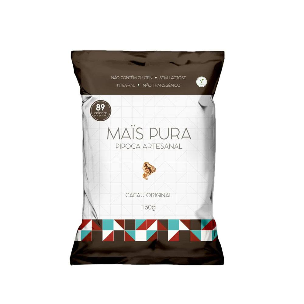 Pipoca Artesanal sabor Cacau Original 150gr Mais Pura