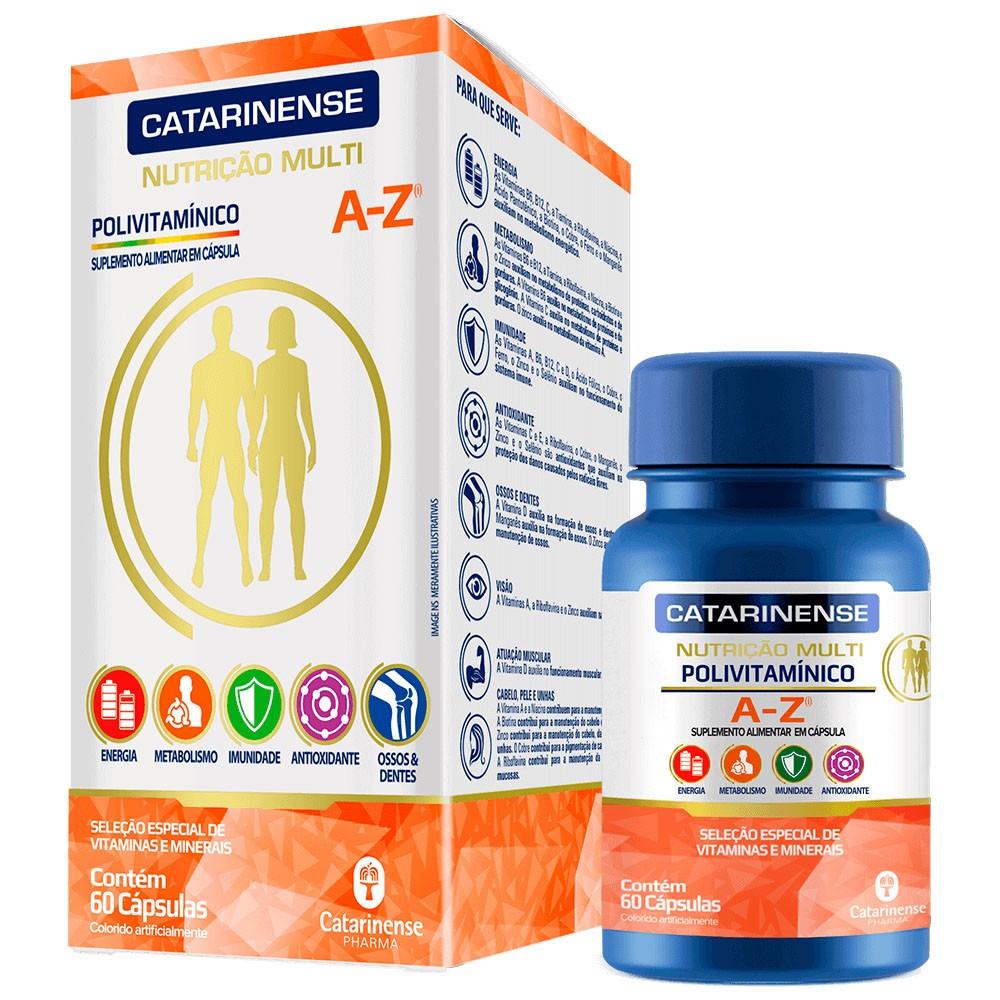 Polivitamínico Multi A-Z 60 cápsulas - Catarinense