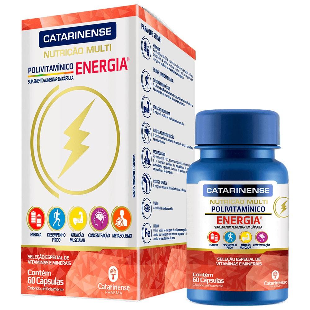 Polivitamínico Multi Energia 60 cápsulas Catarinense