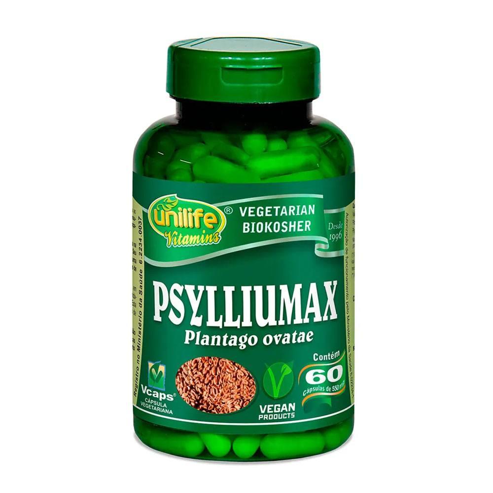 Psylliumax - Psyllium 500mg 60 cápsulas Unilife