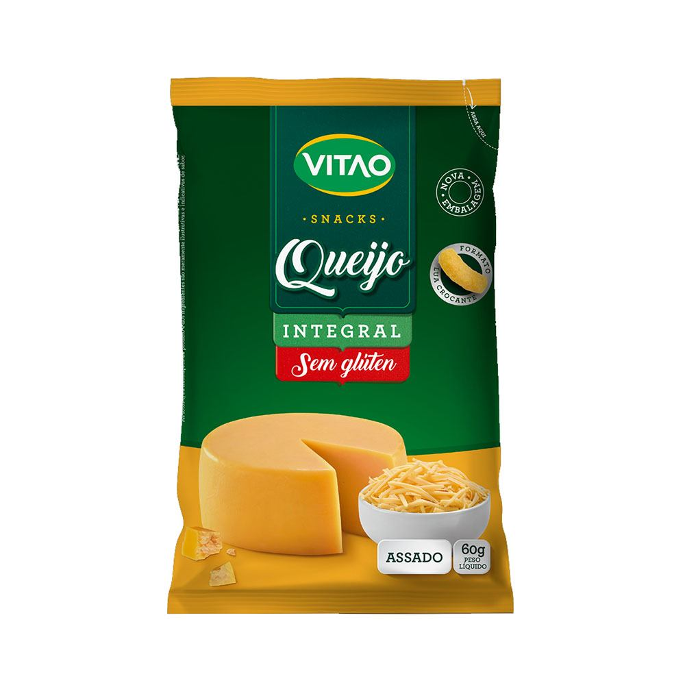 Snacks Integral Queijo 60gr Vitao