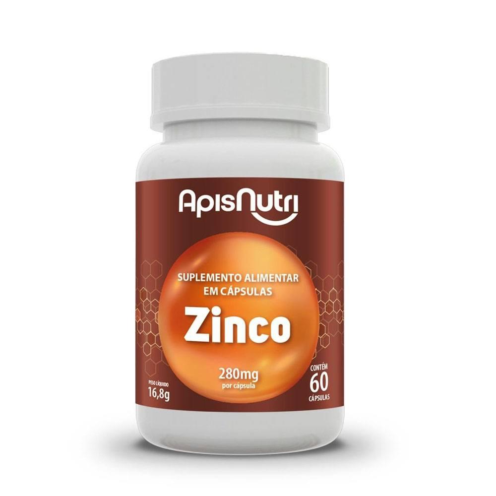 Suplemento Mineral de Zinco 280mg 60 cápsulas - Apisnutri