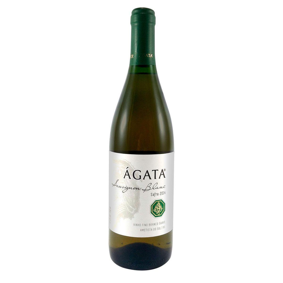 Vinho Fino Branco Suave Ágata Sauvignon Blanc 750ml