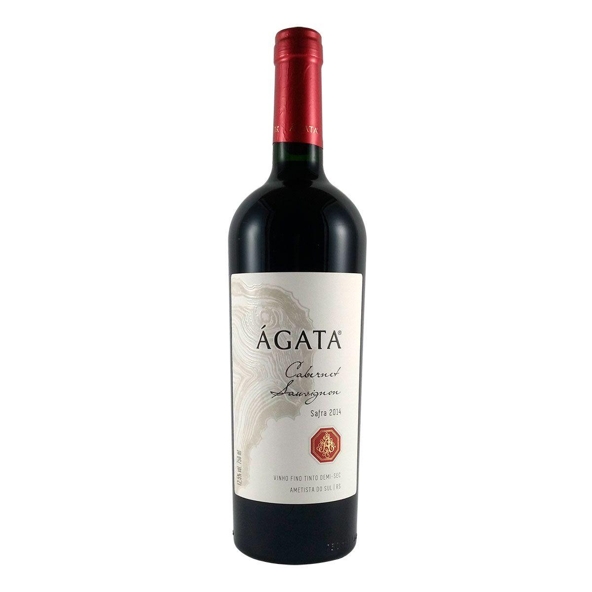 Vinho Fino Tinto Demi-Sec Ágata Cabernet Sauvignon 2014 750ml