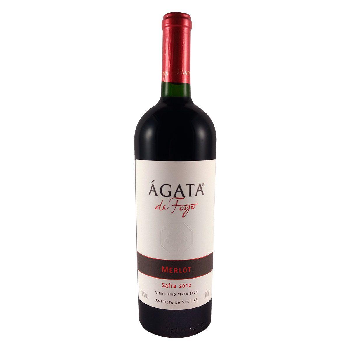 Vinho Fino Tinto Seco Ágata de Fogo Merlot 2012 750ml