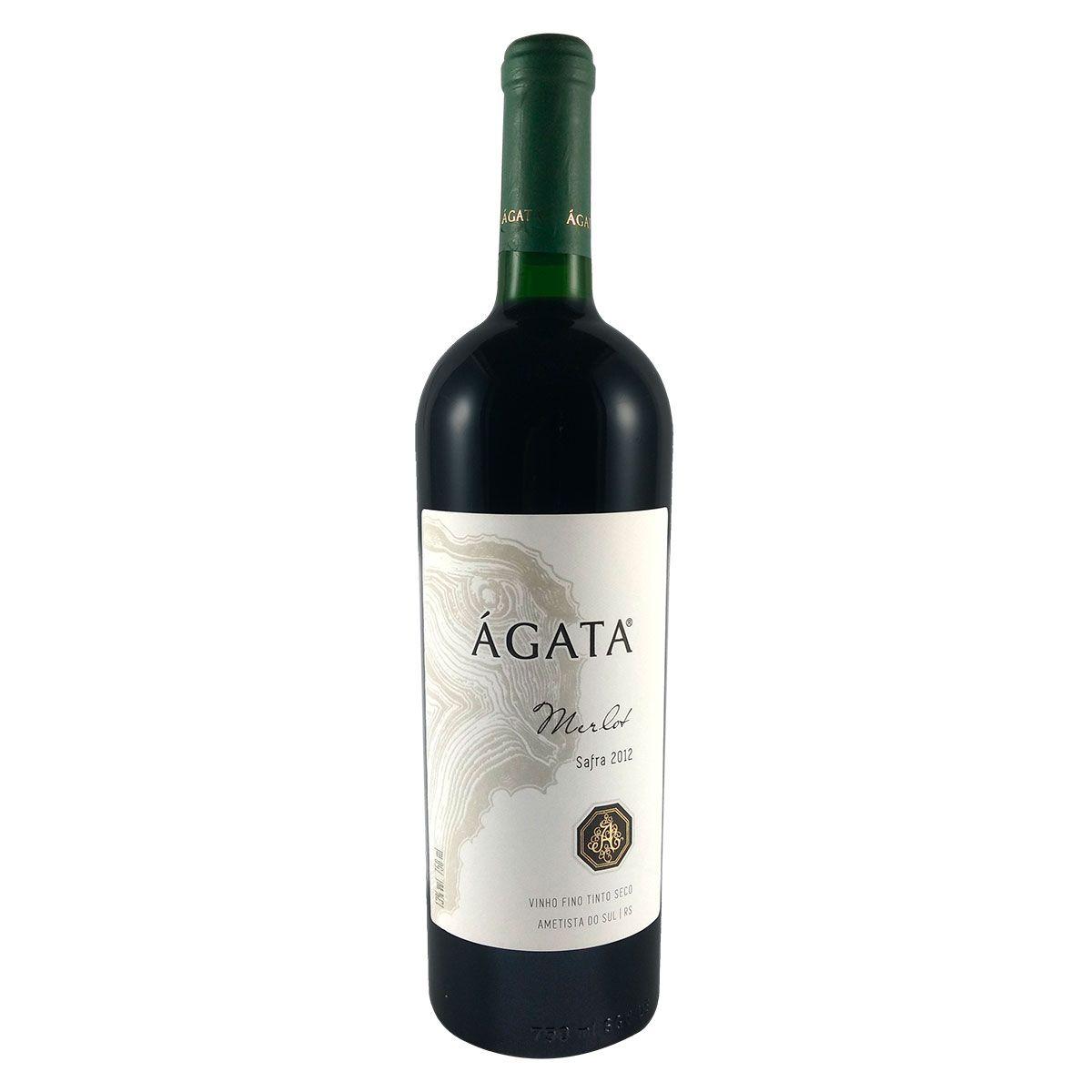 Vinho Fino Tinto Seco Ágata Merlot 2012 750ml
