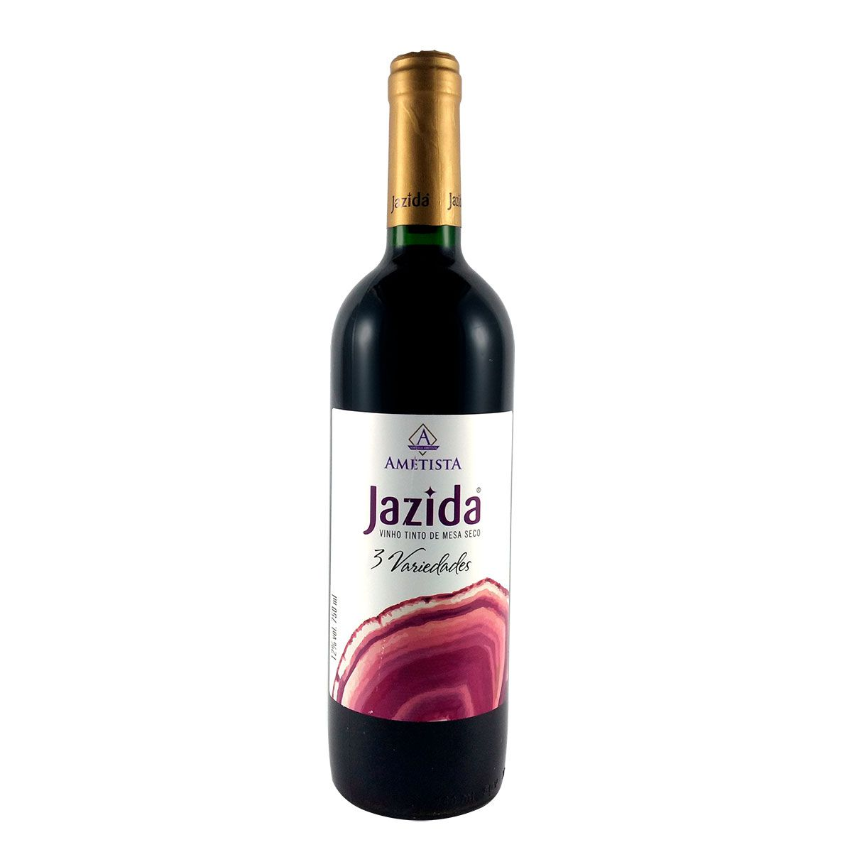 Vinho Tinto de Mesa Seco Jazida 3 Variedades 750ml