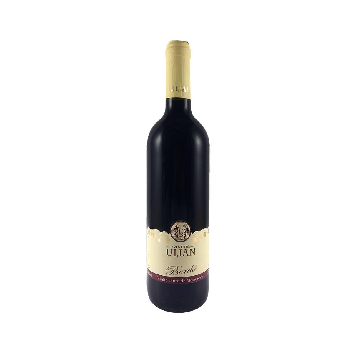 Vinho Tinto Ulian de Mesa Seco Bordô 750ml