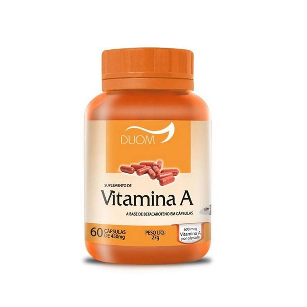 Vitamina A 450mg 60 cápsulas Duom