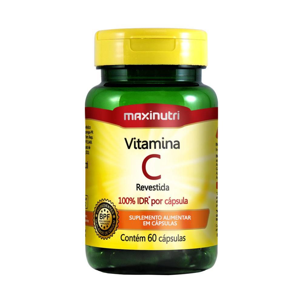 Vitamina C revestida 100% IDR 60 cápsulas Maxinutri