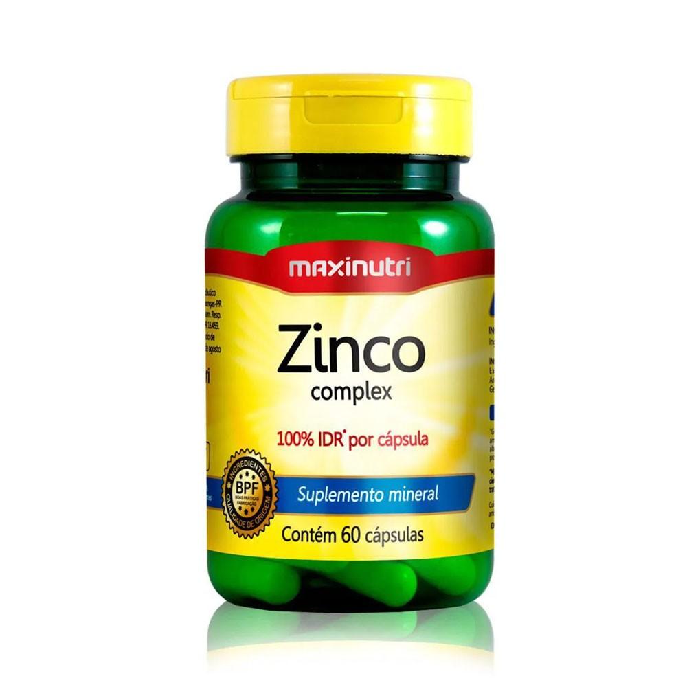 Zinco 100% IDR 60 cápsulas Maxinutri