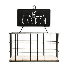 Cesta de Parede Metal/Madeira Garden - Urban