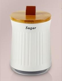 Lata Porta Mantimentos Cristal Tampa Bambu Sugar - YOI