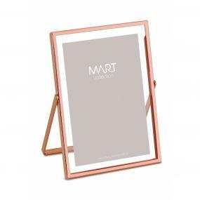 Porta Retrato em Metal Rosê Gold foto 10 x 15 cm