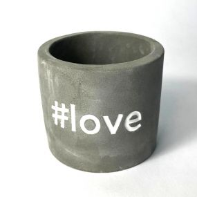 Vaso Cachepot em Concreto #Love
