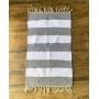 Capacho Cinza e Branco Listra Tapete 0,80 x 0,50 cm
