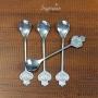 Conjunto c/4 Colheres de Sobremesa Inox Prata