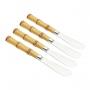Conjunto c/6 Espátulas para manteiga Bambu