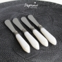 Conjunto c/4 Espátulas para manteiga Marfim