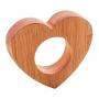 Jogo c/4 Anéis para Guardanapo Coração Madeira