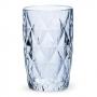 Jogo c/6 Copos de Vidro Diamond Metalizado 350ml