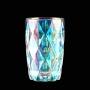 Jogo c/6 Copos de Vidro Diamond Metalizado Rainbow 350ml