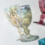 Jogo c/ 6 Taça para Água de vidro Diamond Rainbow Furta-Cor