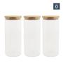 Kit c/3 Potes de Vidro Herméticos com Tampa de Bambu 450 ml - Oikos