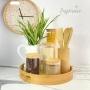 Kit c/4 Potes de Vidro com Tampa de Bambu Herméticos Yoi